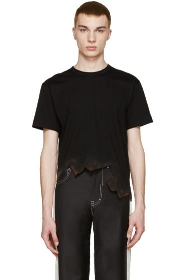 Comme des Garçons Homme Plus - Black Burnt Effect T-Shirt
