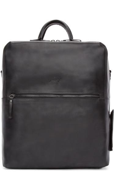 Marsèll - Black Leather Square Scatolaino Backpack
