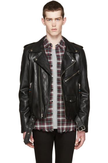 BLK DNM - Black Leather Classic Moto 5 Jacket