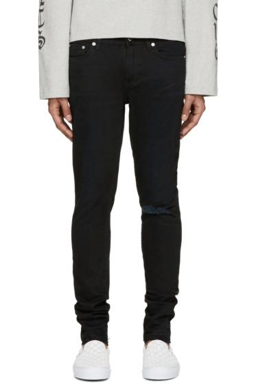 BLK DNM - Black Frayed 25 Jeans