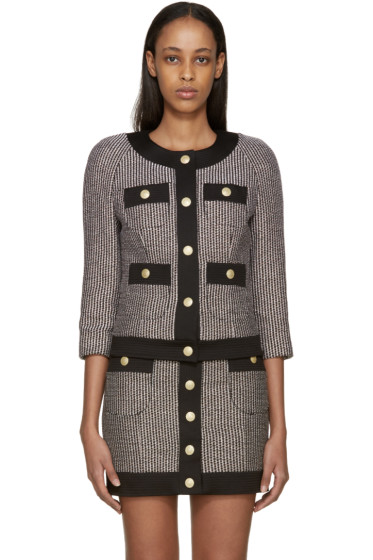 Pierre Balmain - Black & Pink Tweed Blazer