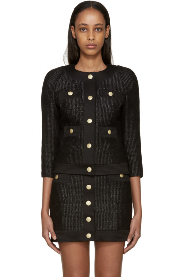 Pierre Balmain - Black Tweed Blazer