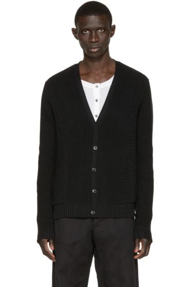 Pierre Balmain - Black Cotton Cardigan