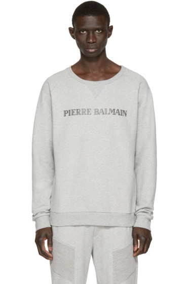 Pierre Balmain - Grey Logo Pullover