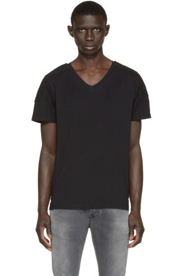 Pierre Balmain - Black Topstitched T-Shirt