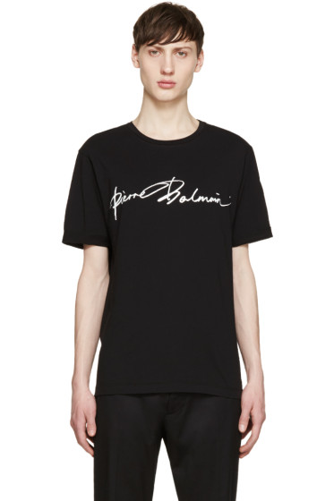 Pierre Balmain - Black Logo T-Shirt