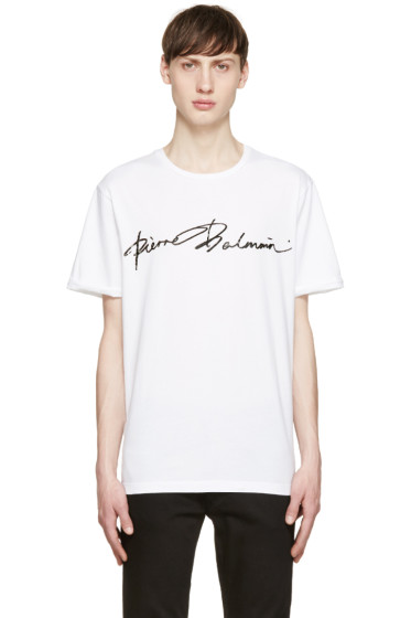 Pierre Balmain - White Logo T-Shirt