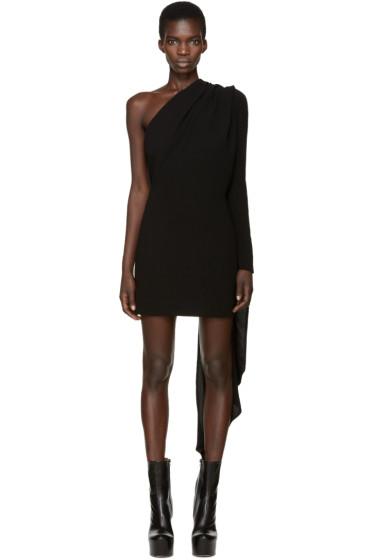 Gareth Pugh - Black Asymmetric Draped Dress