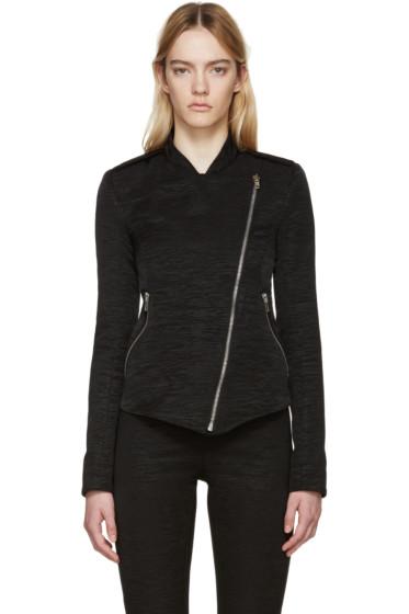 Gareth Pugh - Black Textured Cotton Zip Jacket