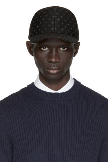 Neil Barrett - Black Neoprene North Star Cap