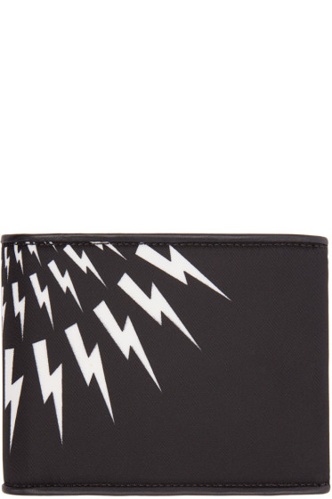 Neil Barrett - Black Thunderbolt Wallet