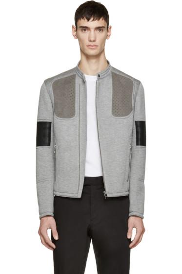 Neil Barrett - Grey Neoprene Biker Jacket