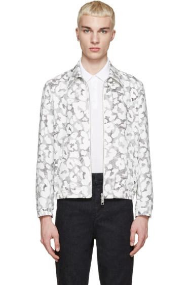 Neil Barrett - White & Black Leopard Stripe Jacket