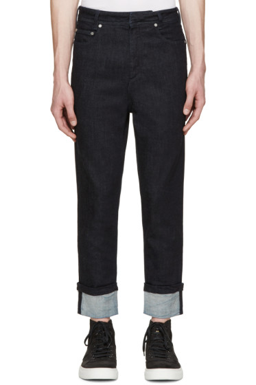 Neil Barrett - Indigo Cropped Cuffed Jeans