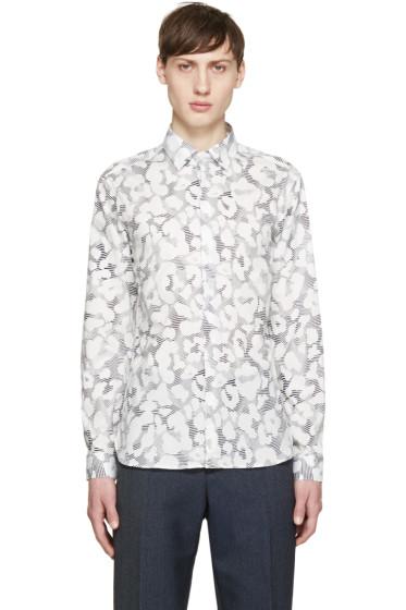 Neil Barrett - White Leopard Print Shirt