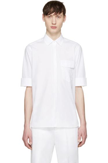 Neil Barrett - White Short Sleeve Shirt