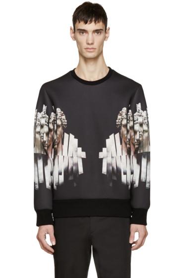 Neil Barrett - Black Neoprene Sliced Hercules Sweatshirt