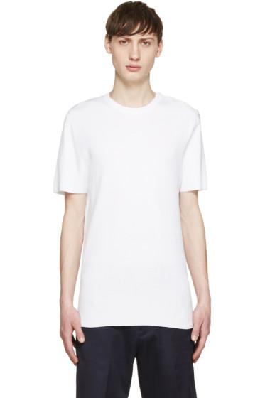 Neil Barrett - White Knit Buttoned T-Shirt