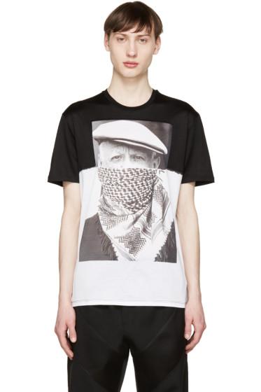 Neil Barrett - Black & White Picasso T-Shirt