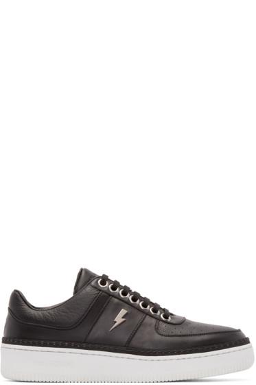 Neil Barrett - Black Leather City Sneakers