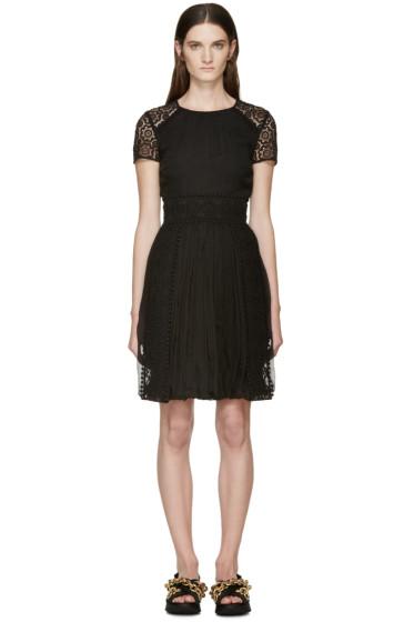 Burberry Prorsum - Black Silk Lace Panel Dress