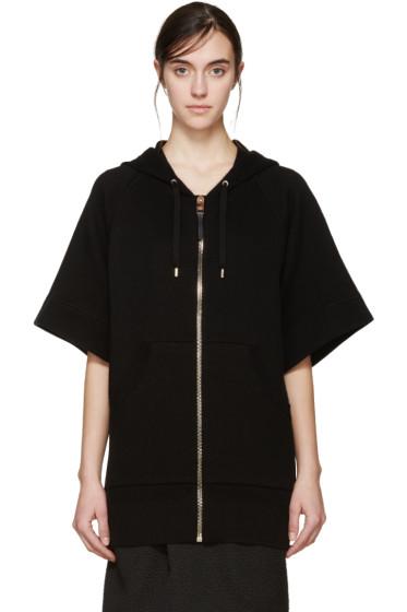 Burberry Prorsum - Black Short Sleeve Hoodie