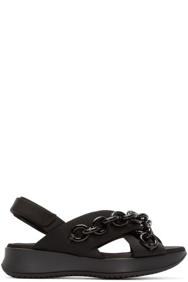 Burberry Prorsum - Black Chain Actonshire Sandals