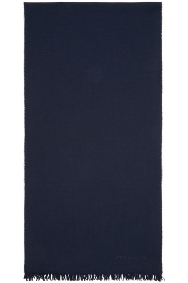 Burberry Prorsum - Navy Wool & Cashmere Scarf