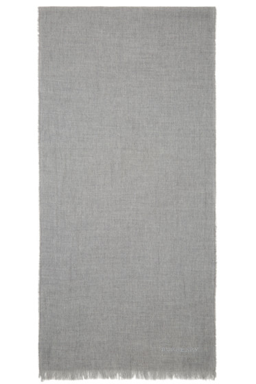 Burberry Prorsum - Grey Wool & Cashmere Scarf