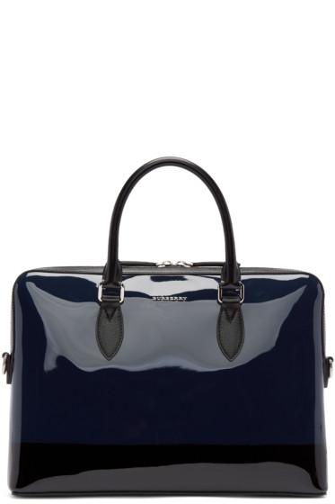 Burberry Prorsum - Navy & Black Patent Leather Briefcase