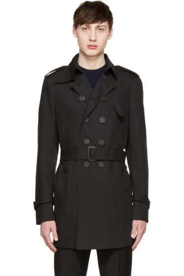 Burberry Prorsum - Black Zebra Lining Trench Coat