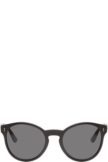 Burberry - Black Round Folding Sunglasses