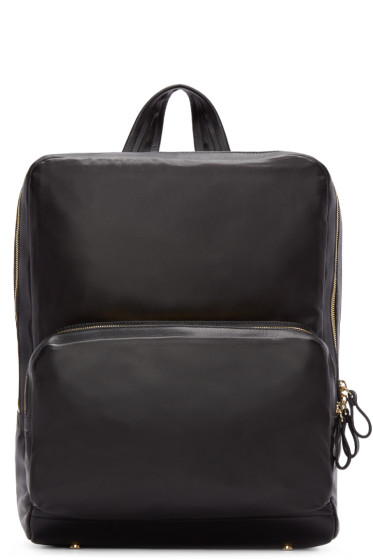Pierre Hardy - Black Leather Backpack