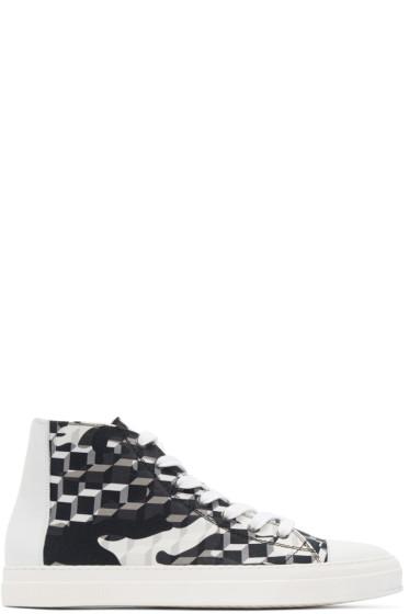 Pierre Hardy - Black & White Cube Frisco Sneakers