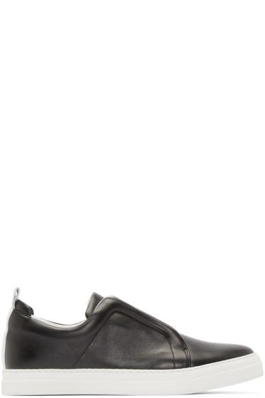 Pierre Hardy - Black Leather Slider Sneakers