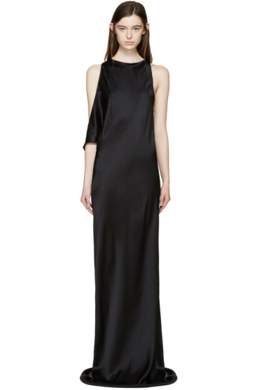 Ann Demeulemeester - Black Silk Rasoseta Dress