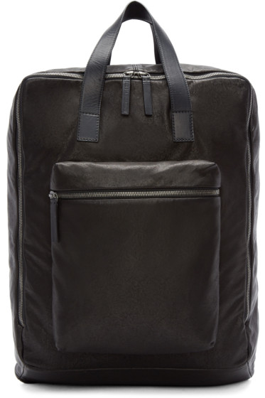 Ann Demeulemeester - Black Leather Backpack