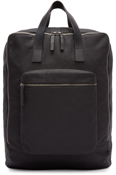 Ann Demeulemeester - Black Canvas Backpack