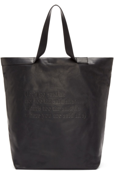 Ann Demeulemeester - Black Leather Alana Tote
