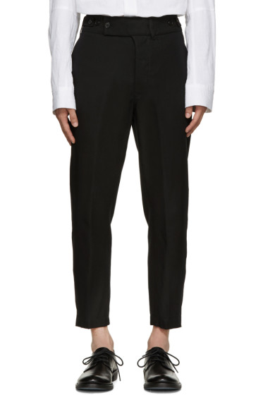 Ann Demeulemeester - Black Twill Trousers