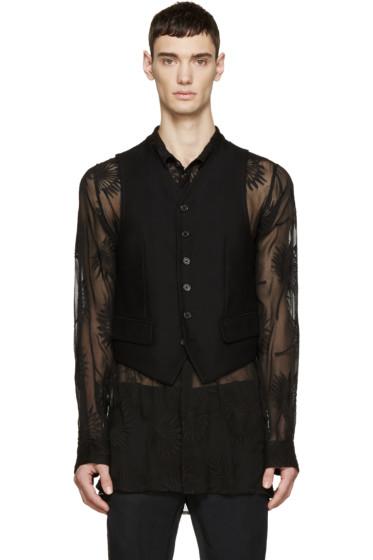 Ann Demeulemeester - Black Sheer Back Waistcoat