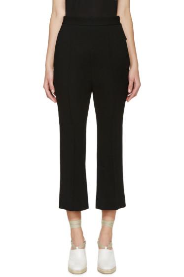 Marni - Black Flared Crepe Trousers