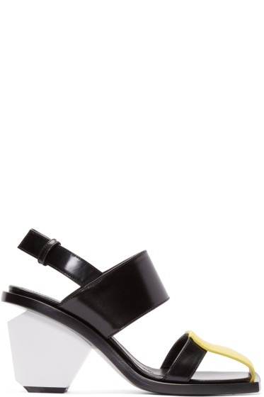 Marni - Tricolor Leather Colorblock Heels