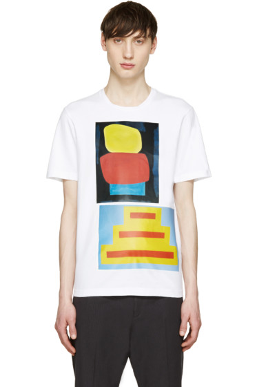 Marni - White Geometric Jack Davidson Edition T-Shirt