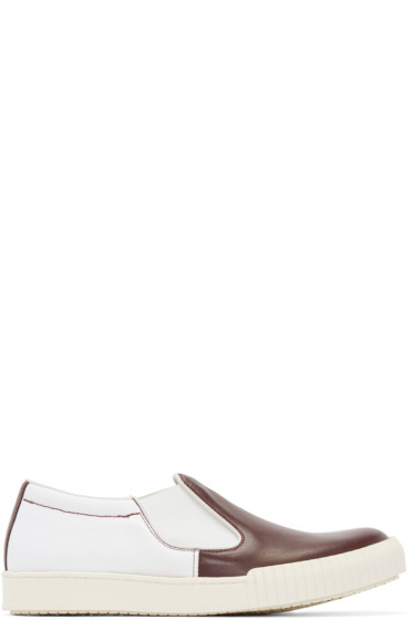 Marni - Red & White Slip-On Sneakers