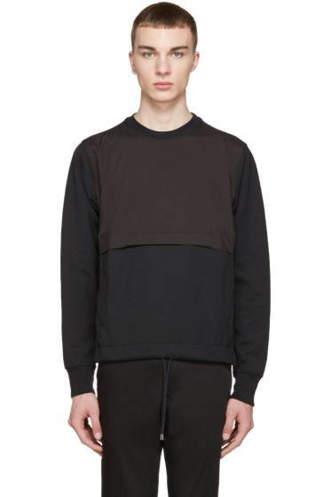 Paul Smith Jeans - Black Nylon Panel Pullover