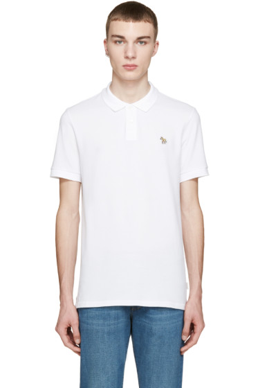 Paul Smith Jeans - White Slim Zebra Polo