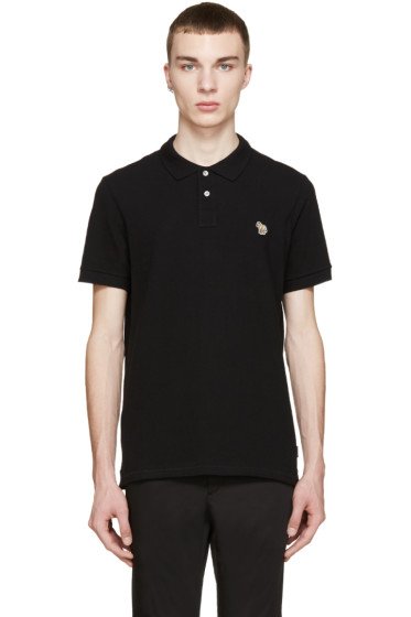 Paul Smith Jeans - Black Slim Zebra Polo