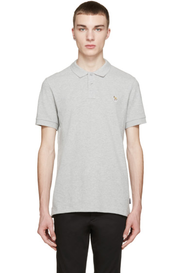 Paul Smith Jeans - Grey Slim Zebra Polo