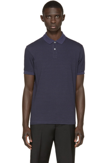 Paul Smith Jeans - Navy & Black Striped Polo
